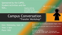 Campus Conversation:  Transfer workshop