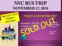 NYC Bus Trip (SOLD OUT)