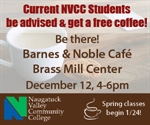 Current Students - Come be advised and get a free coffee!