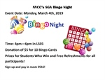 Bingo Fun!  Sponsored by the SGA