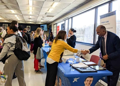 Hundreds of Students, Dozens of Employers Connect at NVCC's April Job Fair