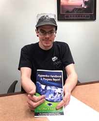 NVCC Manufacturing Student Receives Department of Labor Apprenticeship, Commitment to a Bright Future