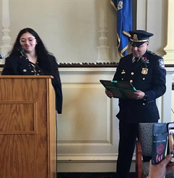 Naugatuck Valley Community College Student Government President Presents Honors to Waterbury's Dominican Mayor for a Day